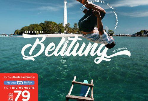 AirAsia connects Kuala Lumpur to the hidden island paradise of Belitung