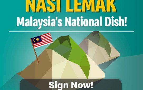 Jadikan Nasi Lemak sebagai makanan rasmi Malaysia